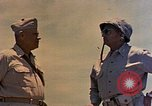 Image of Generals Geiger and del Valle Mobuni Okinawa Ryukyu Islands, 1945, second 7 stock footage video 65675052903