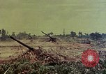 Image of artillery emplacement of 8th 155mm Gun Battalion Naha Okinawa Ryukyu Islands, 1945, second 5 stock footage video 65675052914
