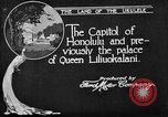 Image of various buildings Honolulu Hawaii USA, 1919, second 3 stock footage video 65675052977