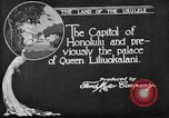 Image of various buildings Honolulu Hawaii USA, 1919, second 6 stock footage video 65675052977