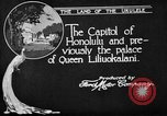 Image of various buildings Honolulu Hawaii USA, 1919, second 9 stock footage video 65675052977