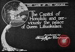 Image of various buildings Honolulu Hawaii USA, 1919, second 12 stock footage video 65675052977