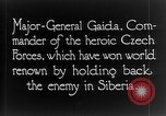 Image of Czech General Gaida Vladivostok Russia, 1918, second 9 stock footage video 65675053022