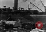 Image of US soldiers protect commodities sea port Vladivostok Russia, 1918, second 8 stock footage video 65675053025