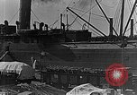 Image of US soldiers protect commodities sea port Vladivostok Russia, 1918, second 9 stock footage video 65675053025