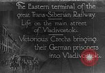 Image of easter terminal of Trans-Siberian Railway Vladivostok Russia, 1918, second 1 stock footage video 65675053028