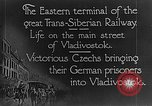 Image of easter terminal of Trans-Siberian Railway Vladivostok Russia, 1918, second 2 stock footage video 65675053028