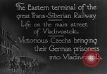 Image of easter terminal of Trans-Siberian Railway Vladivostok Russia, 1918, second 4 stock footage video 65675053028
