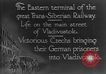 Image of easter terminal of Trans-Siberian Railway Vladivostok Russia, 1918, second 5 stock footage video 65675053028