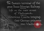 Image of easter terminal of Trans-Siberian Railway Vladivostok Russia, 1918, second 6 stock footage video 65675053028