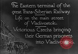 Image of easter terminal of Trans-Siberian Railway Vladivostok Russia, 1918, second 7 stock footage video 65675053028