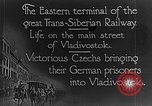 Image of easter terminal of Trans-Siberian Railway Vladivostok Russia, 1918, second 8 stock footage video 65675053028