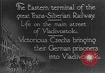 Image of easter terminal of Trans-Siberian Railway Vladivostok Russia, 1918, second 9 stock footage video 65675053028