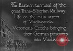 Image of easter terminal of Trans-Siberian Railway Vladivostok Russia, 1918, second 11 stock footage video 65675053028