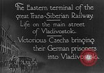 Image of easter terminal of Trans-Siberian Railway Vladivostok Russia, 1918, second 12 stock footage video 65675053028