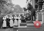 Image of Raising American flag at Red Cross hospital Archangel Russia, 1918, second 3 stock footage video 65675053037