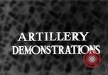 Image of Live fire demonstrations at British Army Royal School of Artillery Salisbury England, 1936, second 1 stock footage video 65675053131