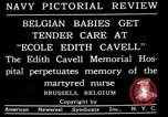 Image of memorial to Edith Cavell Brussels Belgium, 1920, second 10 stock footage video 65675053216