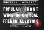 Image of people casting votes France, 1936, second 5 stock footage video 65675053230
