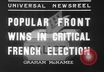 Image of people casting votes France, 1936, second 6 stock footage video 65675053230