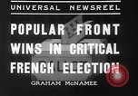 Image of people casting votes France, 1936, second 8 stock footage video 65675053230