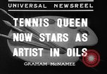 Image of tennis player Helen Wills Moody San Francisco California USA, 1936, second 7 stock footage video 65675053231