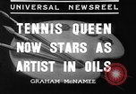 Image of tennis player Helen Wills Moody San Francisco California USA, 1936, second 8 stock footage video 65675053231