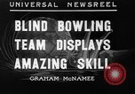 Image of blind bowlers New York City USA, 1936, second 1 stock footage video 65675053234