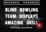 Image of blind bowlers New York City USA, 1936, second 2 stock footage video 65675053234