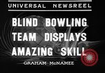 Image of blind bowlers New York City USA, 1936, second 5 stock footage video 65675053234