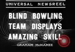 Image of blind bowlers New York City USA, 1936, second 6 stock footage video 65675053234
