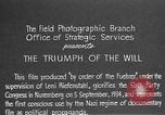Image of Triumph of the Will Nuremberg Germany, 1934, second 8 stock footage video 65675053272