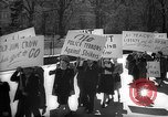 Image of American Peace Mobilization anti-war march in World War 2 Washington DC USA, 1941, second 5 stock footage video 65675053289