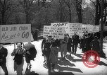 Image of American Peace Mobilization anti-war march in World War 2 Washington DC USA, 1941, second 12 stock footage video 65675053289