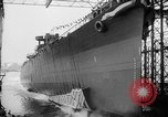 Image of cruiser USS Santa Fe CL-60 Camden New Jersey USA, 1942, second 9 stock footage video 65675053297