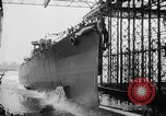 Image of cruiser USS Santa Fe CL-60 Camden New Jersey USA, 1942, second 11 stock footage video 65675053297