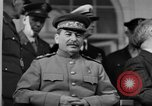 Image of Big Three leaders at Tehran Conference Tehran Iran, 1943, second 4 stock footage video 65675053421