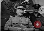 Image of Big Three leaders at Tehran Conference Tehran Iran, 1943, second 7 stock footage video 65675053421