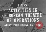 Image of United States Army European Theater, 1944, second 4 stock footage video 65675053492