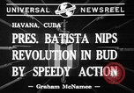 Image of Fulgencio Batista Havana Cuba, 1941, second 5 stock footage video 65675053551
