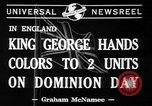 Image of King George VI United Kingdom, 1941, second 3 stock footage video 65675053573