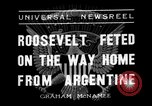 Image of Franklin Roosevelt Montevideo Uruguay, 1936, second 3 stock footage video 65675053655