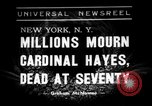 Image of Cardinal Hayes Saint Joseph New York USA, 1938, second 1 stock footage video 65675053663