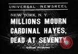 Image of Cardinal Hayes Saint Joseph New York USA, 1938, second 4 stock footage video 65675053663