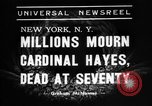 Image of Cardinal Hayes Saint Joseph New York USA, 1938, second 5 stock footage video 65675053663