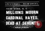 Image of Cardinal Hayes Saint Joseph New York USA, 1938, second 7 stock footage video 65675053663