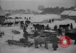 Image of Russian farm workers on snow covered farm Kiev Ukraine, 1947, second 1 stock footage video 65675053671