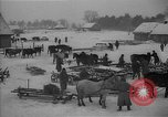 Image of Russian farm workers on snow covered farm Kiev Ukraine, 1947, second 2 stock footage video 65675053671