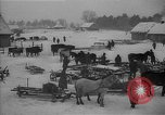 Image of Russian farm workers on snow covered farm Kiev Ukraine, 1947, second 3 stock footage video 65675053671