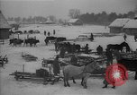 Image of Russian farm workers on snow covered farm Kiev Ukraine, 1947, second 4 stock footage video 65675053671